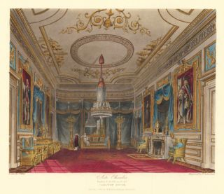 Ante Chamber, leading to the Throne Room, Carlton House. The History of the Royal Residences. W....