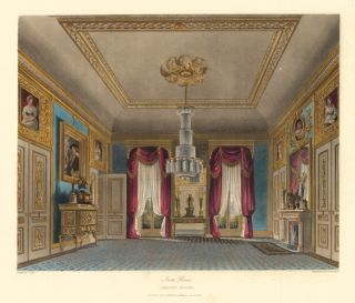 Ante Room, Carlton House. The History of the Royal Residences. W. H. Pyne, Pyne