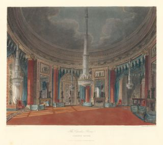 The Circular Room, Carlton House. The History of the Royal Residences. W. H. Pyne, Pyne