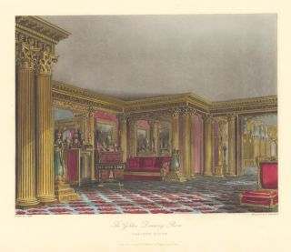 The Golden Drawing Room, Carlton House. The History of the Royal Residences. W. H. Pyne, Pyne