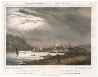 White Hall Lake Champlain. Jacques Gerard Milbert, Milbert