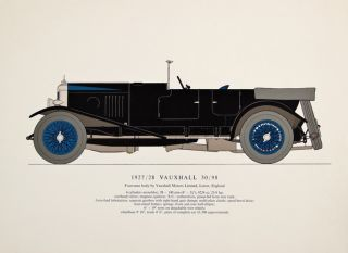 1927/28 Vauxhall 30/98. Early Motor-Cars: 1904-1915. Unknown
