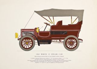 1905 White 15 Steam Car. Early Motor-Cars: 1904-1915. Unknown.