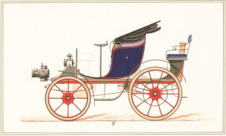 Spider (red). 19th century automobile. unknown