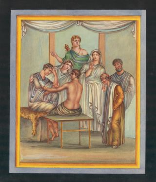 Admetus listening to the reading of the Oracle. Neapolitan School