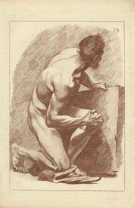 Kneeling male nude. Gabriel Smith.
