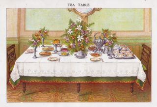 Tea Table. Mrs. Beeton's Book of Household Management. Isabella Beeton
