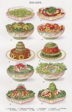 Salads. Mrs. Beeton's Book of Household Management. Isabella Beeton