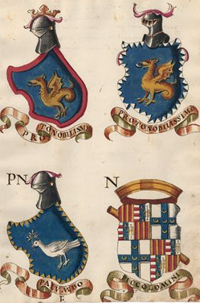 Pl. 109. Italian Family Coats of Arms. Italian School