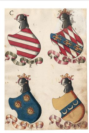 Pl. 147. Italian Family Coats of Arms. Italian School