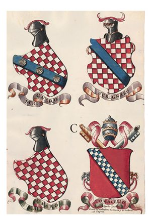 Pl. 131. Italian Family Coats of Arms. Italian School