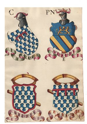 Pl. 70. Italian Family Coats of Arms. Italian School