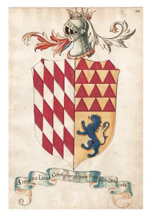 Pl. 184. Italian Family Coats of Arms. Italian School