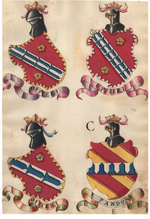 Pl. 99. Italian Family Coats of Arms. Italian School