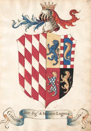 Pl. 185. Italian Family Coats of Arms. Italian School