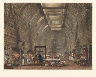 Ancient Kitchen, Windsor Castle. The History of the Royal Residences. W. H. Pyne
