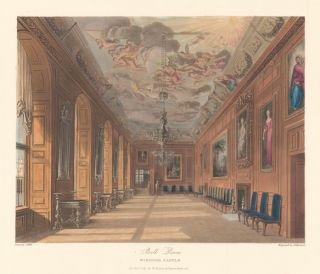 Ballroom, Windsor Castle. The History of the Royal Residences. W. H. Pyne