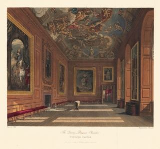 Queen's Presence Chamber, Windsor Castle. The History of the Royal Residences. W. H. Pyne, Pyne