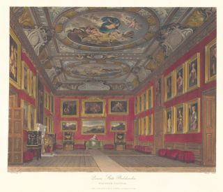 Queen's State Bedchamber, Windsor Castle. The History of the Royal Residences. W. H. Pyne, Pyne