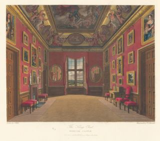 King's Closet, Windsor Castle. The History of the Royal Residences. W. H. Pyne, Pyne