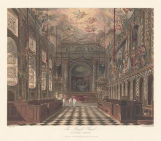 Royal Chapel, Windsor Castle. The History of the Royal Residences. W. H. Pyne, Pyne