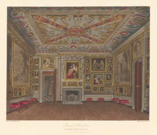 Presence Chamber, Kensington Palace. The History of the Royal Residences. W. H. Pyne, Pyne