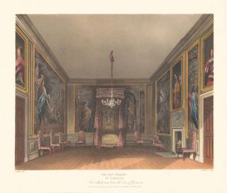 Old Bed Chamber, St. James's. The History of the Royal Residences. W. H. Pyne, Pyne