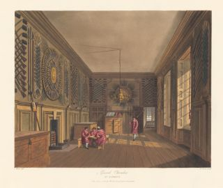 Guard Chamber, St. James's. The History of the Royal Residences. W. H. Pyne, Pyne