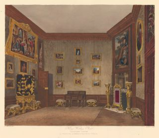 King's Writing Closet, Hampton Court Palace. The History of the Royal Residences. W. H. Pyne, Pyne