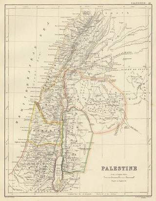 Palestine. The Cabinet Atlas of the World. Alexander Keith Johnston