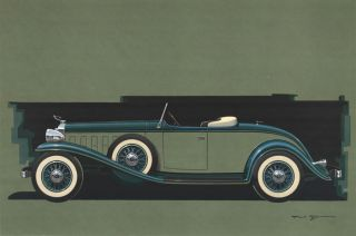 Cadillac V-12 Roadster. Paul Bracq