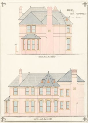 Southwest and Southeast Elevations. Design for Villa Residence.