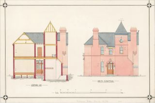 Section A.B. and South Elevation of a Villa.