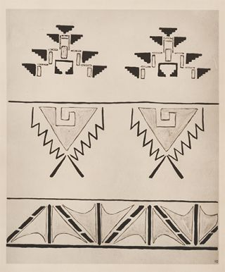 Triangular Designs. American Indian Designs.