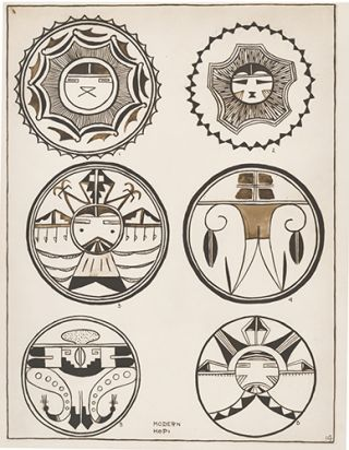 Circular Designs, Old and Modern Hopi. American Indian Designs.