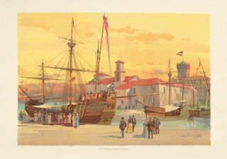 The Caravels and La Rabida. The World's Fair in Water Colors. Charles S. Graham