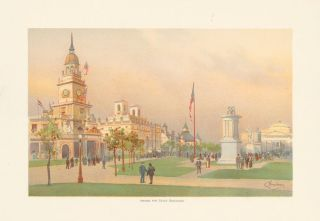 Among the State Buildings. The World's Fair in Water Colors. Charles S. Graham.