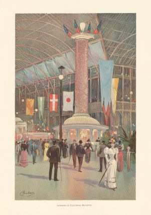 Interior of Electrical Building. The World's Fair in Water Colors. Charles S. Graham