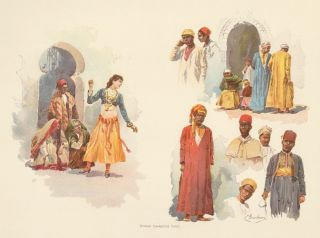 Midway Character Types. The World's Fair in Water Colors. Charles S. Graham.