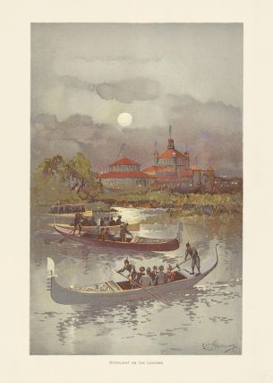 Moonlight on the Lagoons. The World's Fair in Water Colors. Charles S. Graham.