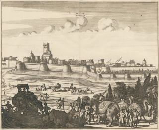 De Stadt Visiapoer [Ancient city of Visapour in India]. Pieter Boudewyn van der Aa, Pierre van...