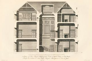 Section of his Royal Highness the Duke of York's Palace in Pall Mall. A Compleat Body of...