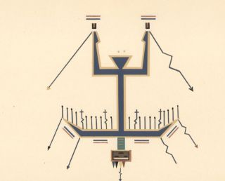 Plate XVII: Big Thunder Painting. Where the Two Came to Their Father: a Navajo War Ceremonial.