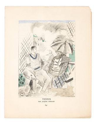 Tennis. Jacques Demachy, Gazette du Bon Ton