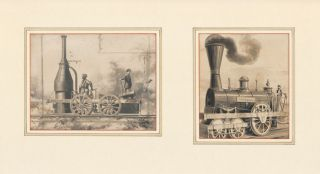 Best Friend (1831) and Sandusky (1837) Locomotives. Unknown
