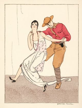 Woman and Man Dancing. Le Dessus du Panier. Zoe de Borelli-Vranska