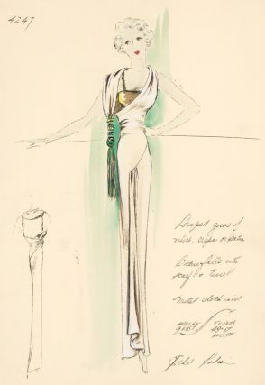 Draped Gown of Velvet or Satin. Ethel Rabin