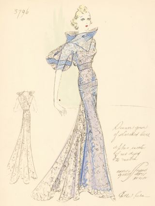 Dinner Gown of Starched Lace. Ethel Rabin
