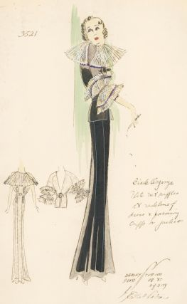 Black Organza Dress. Ethel Rabin
