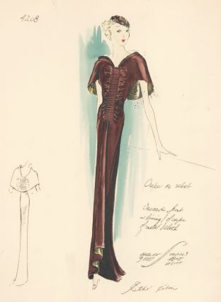 Crepe Dress. Ethel Rabin